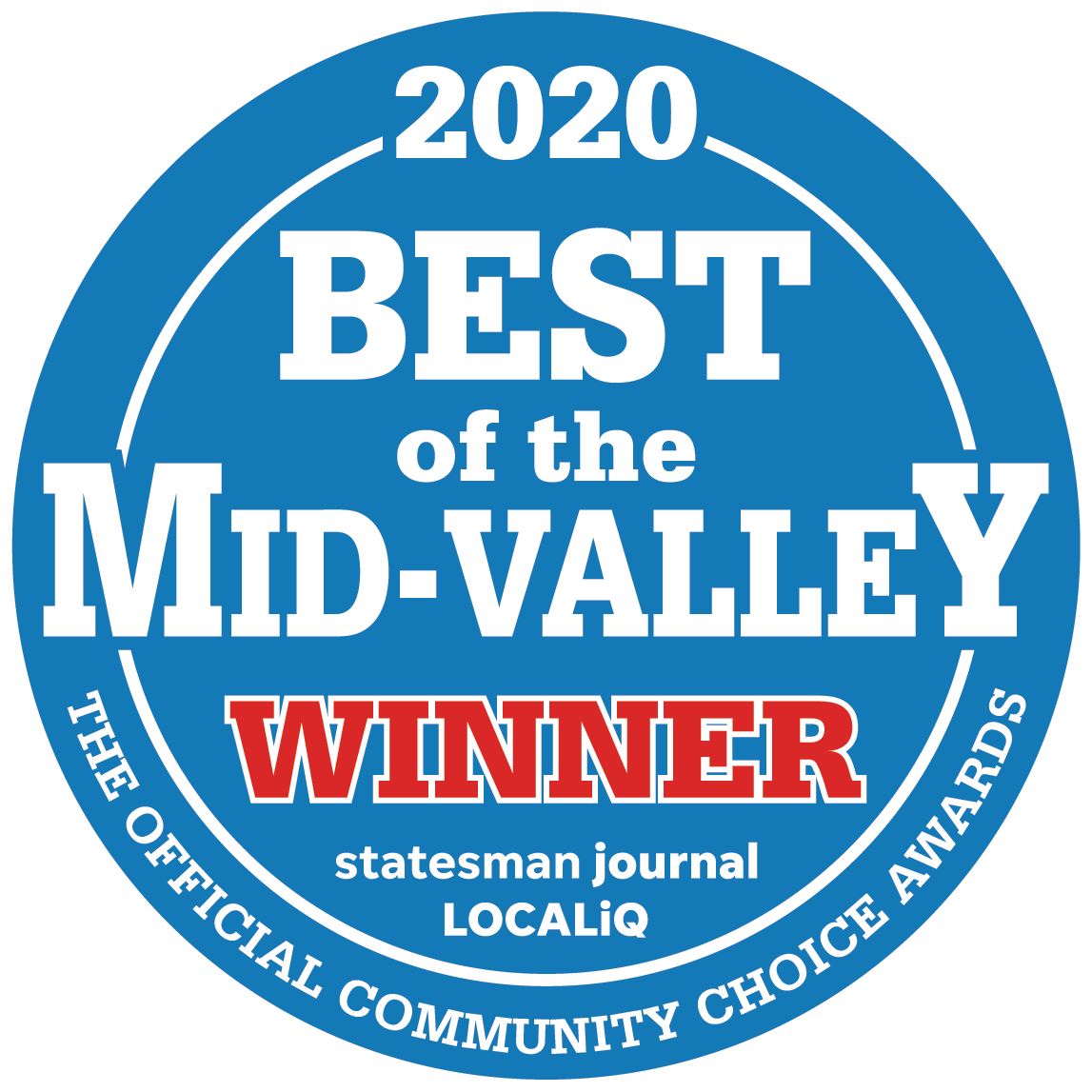 Best of the Mid-Valley 2020 logo
